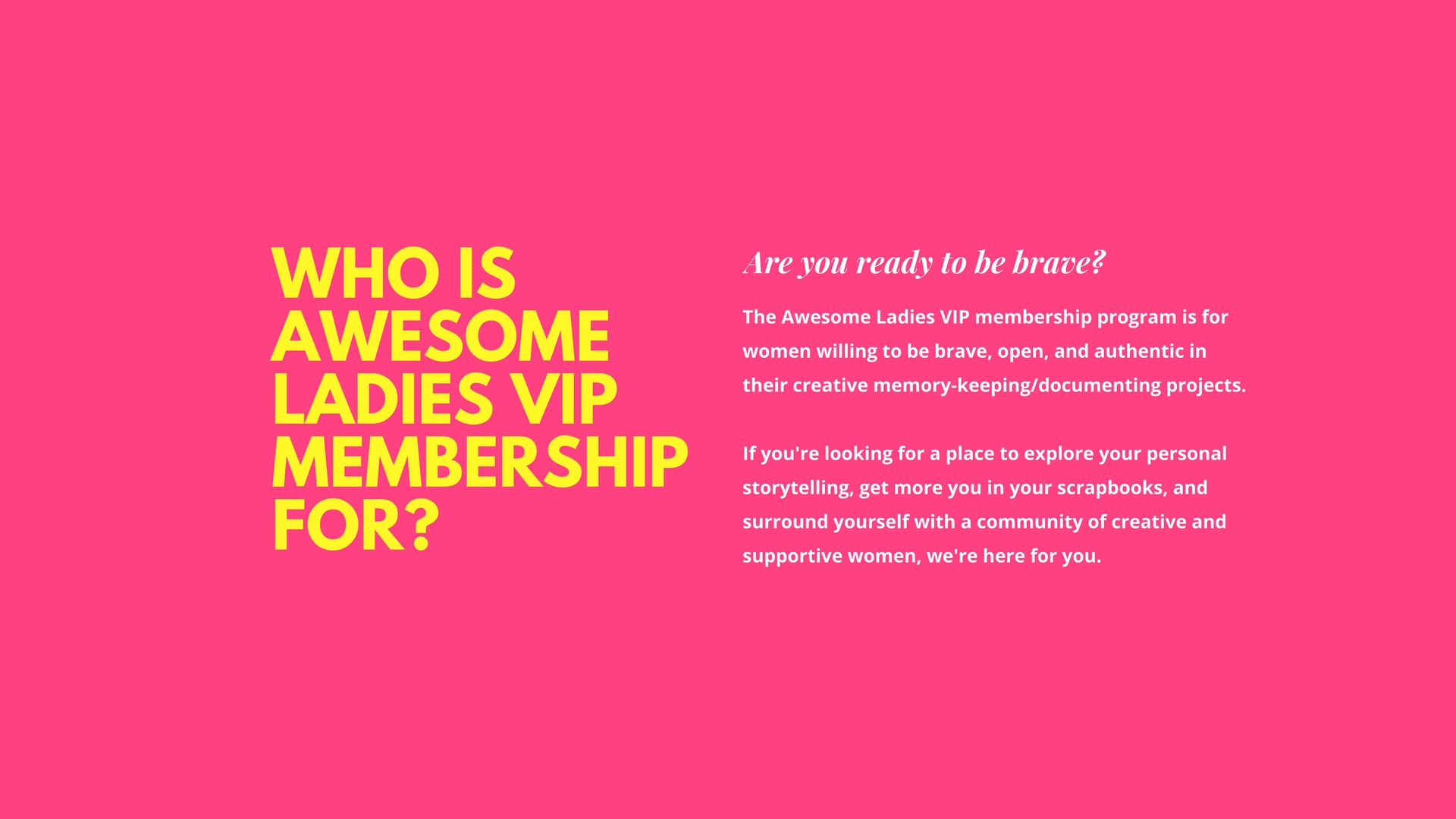 awesome ladies vip membership